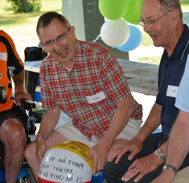 Patients of the COPD and Pulmonary Rehabilitation Program enjoying a picnic at Gibbons Park